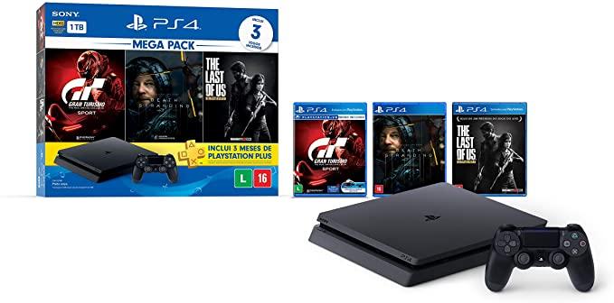 PlayStation 4 Slim HDR 1TB Mega Pack