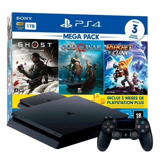 PlayStation 4 Slim HDR 1TB Mega Pack v18