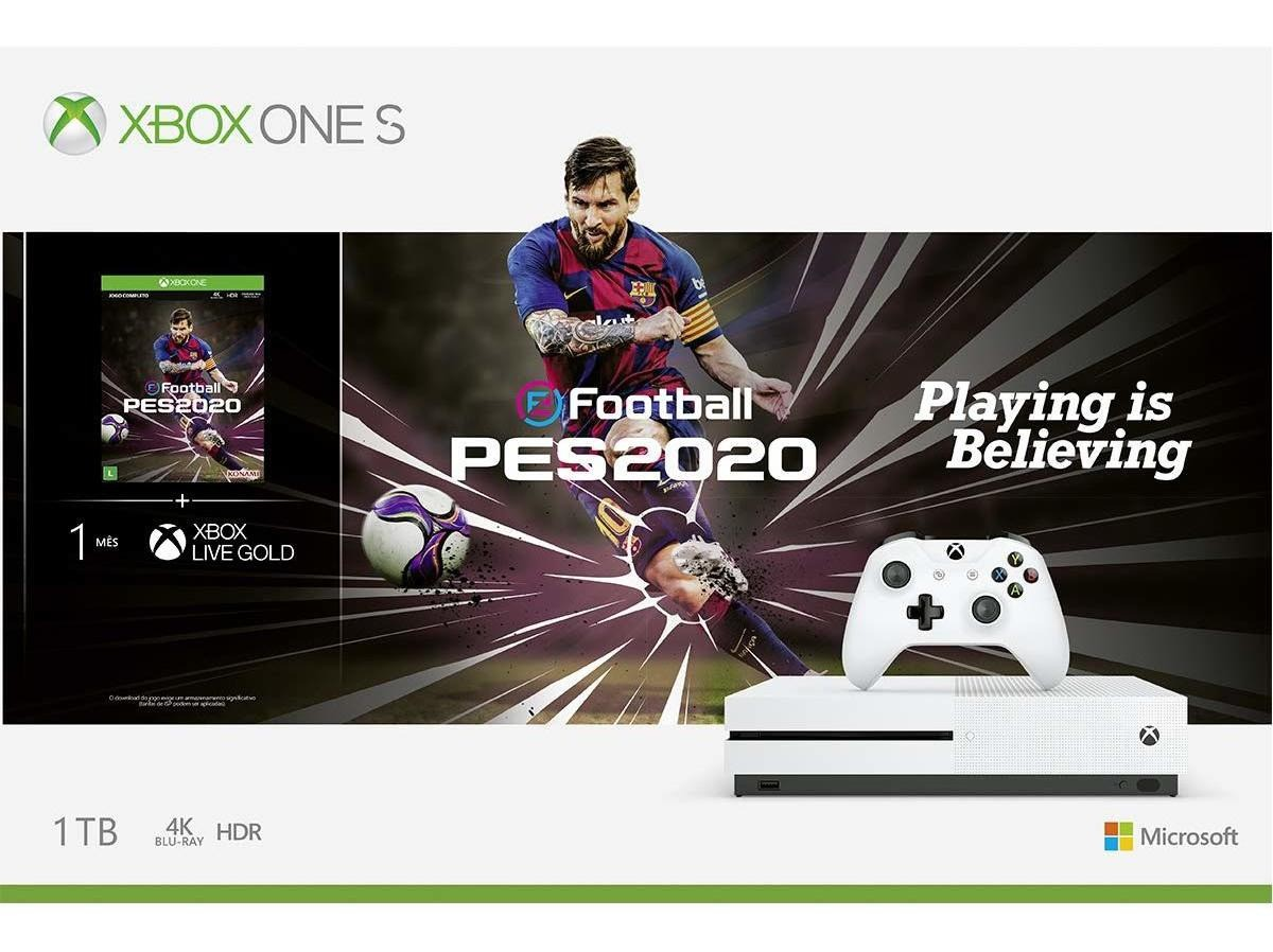 Xbox One S 1TB 4K HDR + PES 2020
