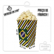 Balde estampa Brasil 15 x 8,5 x 8,5 cm (AxLxP) - pacote com 5 unidades