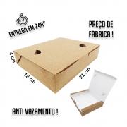 Caixa Anti Vazamento 4x21x18 cm (AxLxP) - pacote com 100 unidades