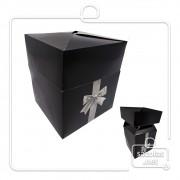 Caixa Box Preta 15 x 13 x 13 cm (AxLxP) - pacote com 5 unidades