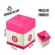 Caixa Box Teen 14,5 x 13 x 13 cm (AxLxP) - pacote com 5 unidades