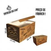 Caixa Combo para Hamburguer/Fritas 10x18x12 cm (AxLxP) - pacote com 100 unidades