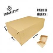 Caixa E-commerce 36x27x12cm (LxPxA) pacote com 20 unidades