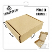 Caixa E-commerce Papelão IP 15x15x4,5cm (LxPxA) 1 unidade
