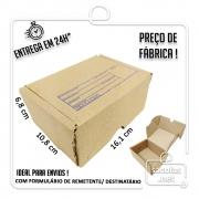 Caixa E-commerce Papelão IP 16,1x10,8x6,8cm (LxPxA) 1 unidade