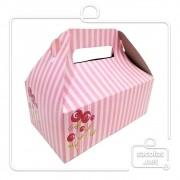 Caixa Lancheira G Listras 15 x 18,5 x 11 cm (AxLxP) - pacote com 5 unidades