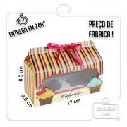 Caixa para 2 Cupcakes 8,5 x 17 x 8,5 cm (AxLxP) - pacote com 5 unidades