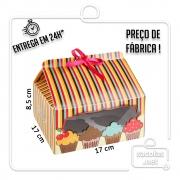 Caixa para 4 Cupcakes 8,5 x 17 x 17 cm (AxLxP) - pacote com 5 unidades
