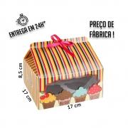 Caixa para 4 Cupcakes 8,5 x 17 x 17 cm (AxLxP) - pacote com 1 unidade