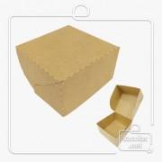 Caixa para Hamburguer 6,5x11,5x11,5 cm (AxLxP) - pacote com 100 unidades