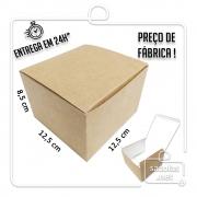 Caixa para Hamburguer 8,5x12,5x12,5 cm (AxLxP) - pacote com 100 unidades