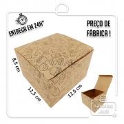 Caixa para Hamburguer estampa preta - 8,5x12,5x12,5 cm (AxLxP) - pacote com 100 unidades