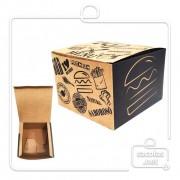 Caixa para Hamburguer G 8,5x12x12 cm (AxLxP) - pacote com 100 unidades