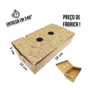 Caixa para Porção G estampa preta 5x18x10 cm (AxLxP) - pacote com 100 unidades