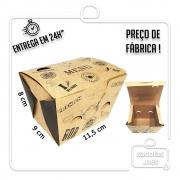 Caixa para Porção Menu P 8x11,5x9 cm (AxLxP) - pacote com 100 unidades