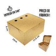 Caixa para Porção MT 6x11,6x10 cm (AxLxP) - pacote com 100 unidades