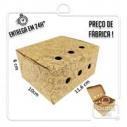 Caixa para Porção MT estampa preta 6x11,6x10 cm (AxLxP) - pacote com 100 unidades