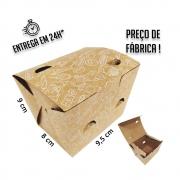 Caixa para Porção P estampa branca 8x9,5x9 cm (AxLxP) - pacote com 100 unidades