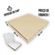 Caixa para Salgados, Doces e Pizza 38x38x5cm - Pacote com 1 unidade