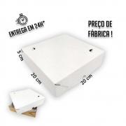 Caixa para Salgados, Esfihas e Doces 20x20x5cm - Pacote com 1 unidade
