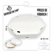 Caixa Pizza Oitavada 35 cm (diâmetro) x 5 cm (altura) - Pacote com 1 unidade