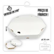 Caixa Pizza Oitavada 35 cm (diâmetro) x 5 cm (altura) - Pacote com 25 unidades