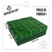 Caixa Presente Campo M Tampa e Fundo 22,5x21x7,5 cm - pacote com 3 unidades