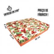 Caixa Presente Floral G Tampa e Fundo 36x28x6 cm - pacote com 1 unidade