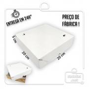 Caixa para Salgados, Esfihas e Doces 20x20x5cm - Pacote com 25 unidades