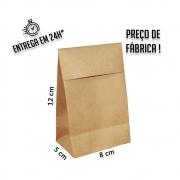 Envelope para Jóias Kraft 12x8x5 cm (AxLxP) - pacote com 100 unidades