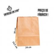 Saco Kraft delivery 30x24x14,5 cm (AxLxP) - pacote com 100 unidades