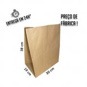 Saco Kraft delivery 38x30x19 cm (AxLxP) - pacote com 100 unidades