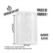 Saco (Saquinho) Barreira Branco H2 12,5x19 cm (AxL) - pacote com 500 unidades