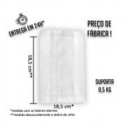 Saco (Saquinho) Barreira Branco V1 18,5x18,5 cm (AxL) - pacote com 500 unidades