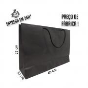 Sacola Handmade 27x40x12 cm Preta (AxLxP) - pacote com 50 unidades