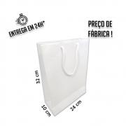 Sacola Handmade 32x24x10 cm Branca (AxLxP) - pacote com 50 unidades