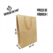 Sacola Handmade 32x24x10 cm Kraft (AxLxP) - pacote com 50 unidades