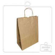 Kit Sacola Kraft Delivery 30x24x14,5 cm + Carimbo com seu logo