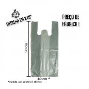 Sacola Plástica Colorida Verde 40x50cm - Pacote com 1 kg