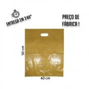 Sacola Plástica Dourada Boca de Palhaço Reciclada  40x50cm - pacote com 1Kg