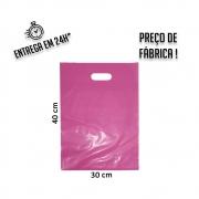 Sacola Plástica Pink Boca de Palhaço Reciclada 30x40cm - pacote com 1Kg