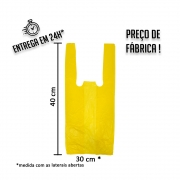 Sacola Plástica (R) Amarela 30x40cm - Pacote com 1.000 unidades