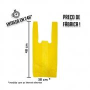 Sacola Plástica (R) Amarela 38x48cm - Pacote com 1.000 unidades