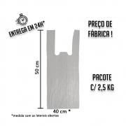 Sacola Plástica (R) Branca 40x50cm - Pacote com 2,5 KG