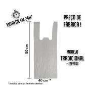 Sacola Plástica (R) Branca 40x50cm tradicional - Pacote com 1000 unidades