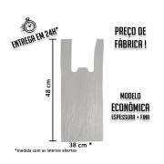 Sacola Plástica (R) Branca Econômica 38x48cm - Pacote com 1.000 unidades