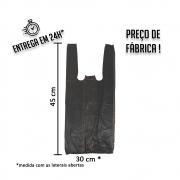 Sacola Plástica (R) Preta 30x45cm - Pacote com 1.000 unidades