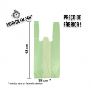 Sacola Plástica (R) verde 38x48cm - Pacote com 1.000 unidades
